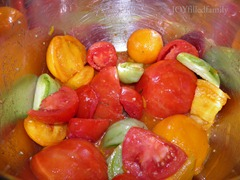 tomatoes in the pot for sauce