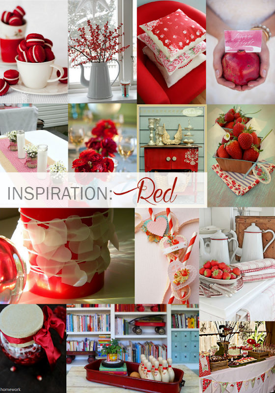 Inspiration Red Round Up collage | via homework - carolynshomework.com
