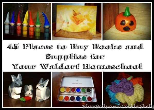 45 Places to Buy Books and Supplies for Your Waldorf Homeschool - from Blue Bells and Cockle Shells