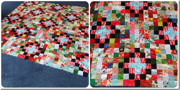 Christmas quilt collage