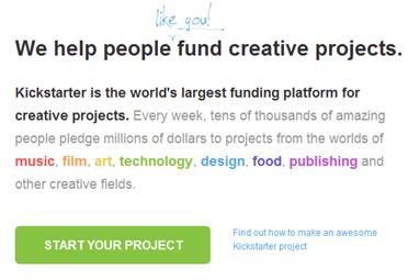 start kickstarter project