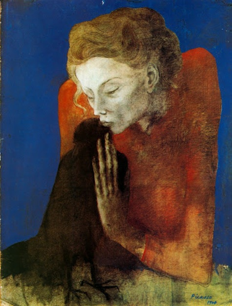Pablo Picasso , Woman with the crow _1904