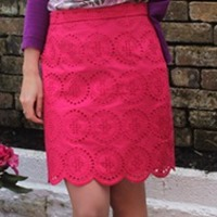 pink scallop skirt 210