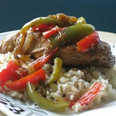 Aunt Jules' Balsalmic Chicken with Peppers