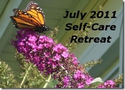 Self-care retreat badge