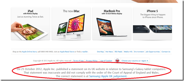 Apple UK Website