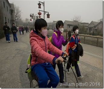 people wearing mask due to pollution