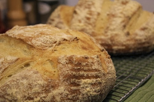 Cornmeal Pumpkin Hearth Bread