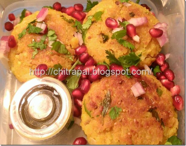 Chitra Pal Poha Patty (Flattened Rice Tikki)