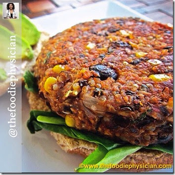 foodie physician-veggie-burger
