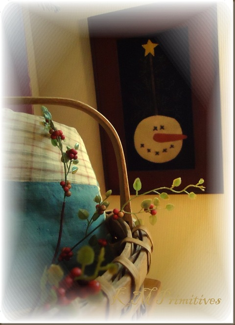 snowman in frame