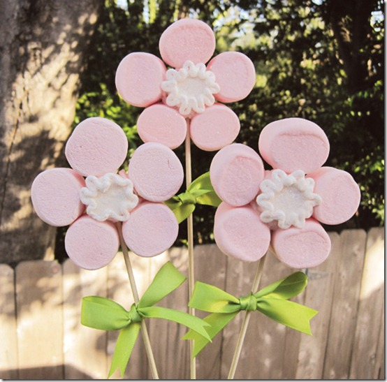 DIY Marshmallow Flower Bouquet