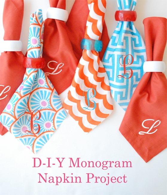 Monogram Napkin DIY