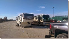 Our rigs parked at the Expo Center...