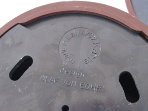 Olaf von Bohr 4702 hook for Kartell, brown