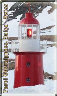 Leuchtturm am Oberalppass, der hoechstgelegene Leuchtturm der Welt