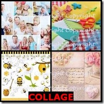 COLLAGE- 4 Pics 1 Word Answers 3 Letters