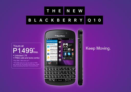 BlackBerry Q10 4G LTE Globe Telecom Philippines