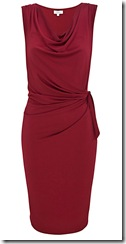 Red side tie dress