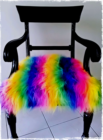 fuzzy monster chair