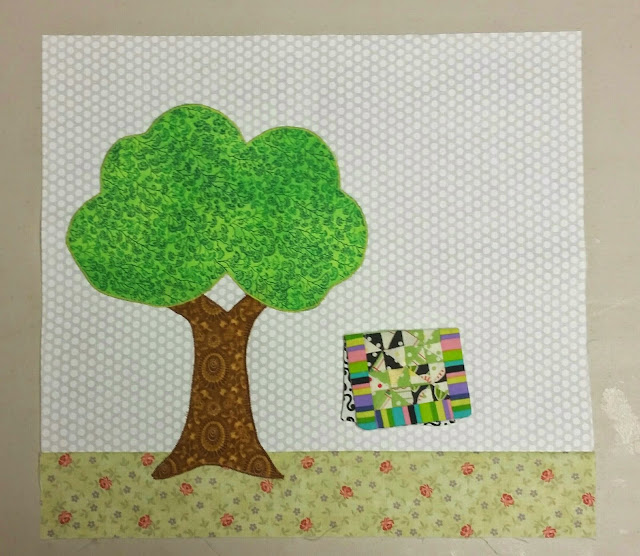 Quilter's Garden - First Tree Block