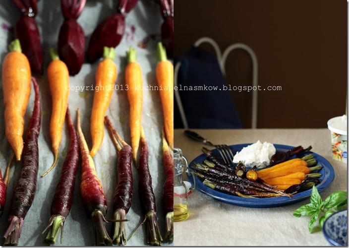 czerwona marchewka pieczona