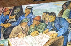 Pablo O'Higgins Mural Placed in Kane Hall