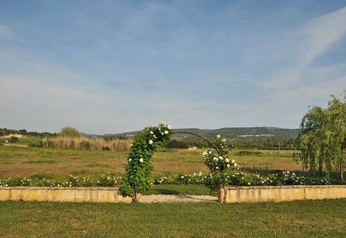 Views Through Rose Arbor/Rose Garden