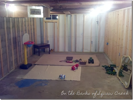 basement framed walls