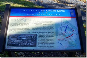 Battle of Cross Keys - Civil War Trails Marker close up on the text