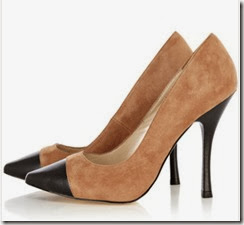 Karen Millen Beige Suede and Leather Court