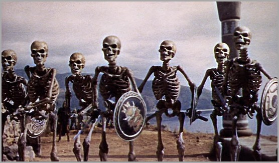 The skeleton fight from JASON AND THE ARGONAUTS (1963).