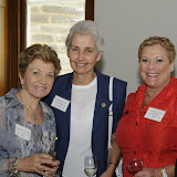 Reunion Luncheon guests and past recipients of the Alumni Association Awards, l-r: Peggy Jackson Quinn 64 (Egan Award, 2009), Sister Matthew Anita MacDonald, Ph.D. 60 (Distinguished Achievement Award, 2000), and Pat Parrella Orlando 68 (Egan Award, 2001).