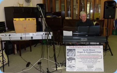 Gordon Sutherland playing his Korg Pa3X for the members of St Annes Club for the Blind
