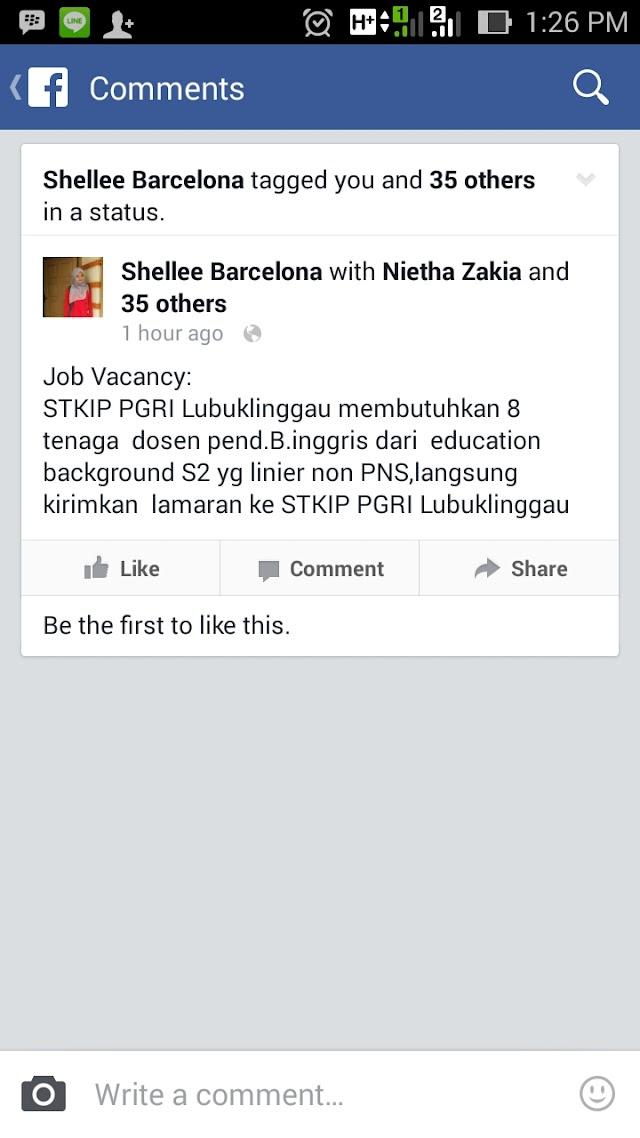 Job Vacancy Dosen Pendidikan Bahasa Inggris