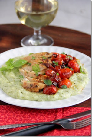 Mrs. Regueiro's Plate: Chicken with Tomato-Herb Sauce