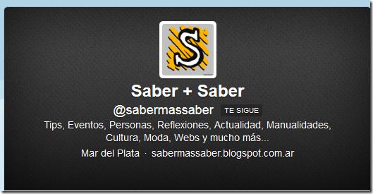 Saber mas Saber Twitter