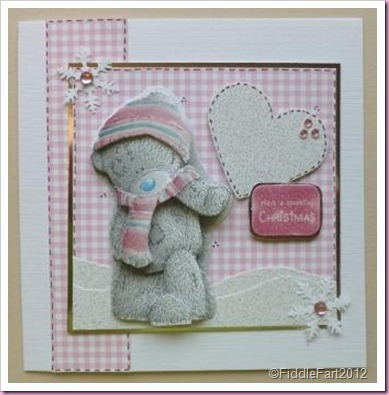 Tatty Teddy Pink Christmas Card