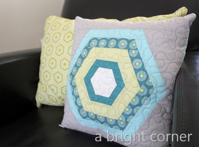 hexagon pillow 2