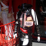 goth cosplay with chains and leather in Harajuku in Harajuku, Tokyo, Japan