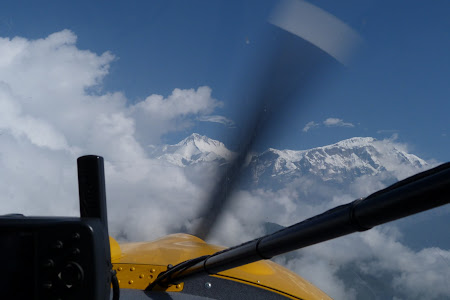 Imagini Nepal: in zbor spre Annapurna