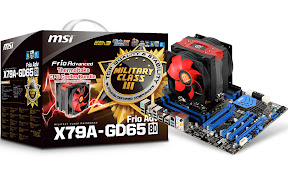 MSI X79A-GD65 (8D) Frio Advvanced mainboards, Military Class III Components
