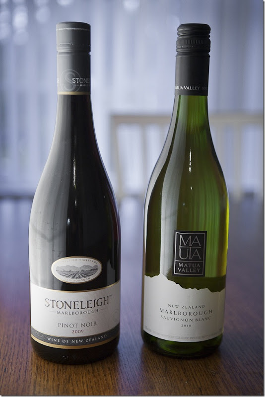 2009 Stoneleigh Marlborough Pinot Noir and 2010 Matua Valley Marlborough Sauvignon Blanc-1
