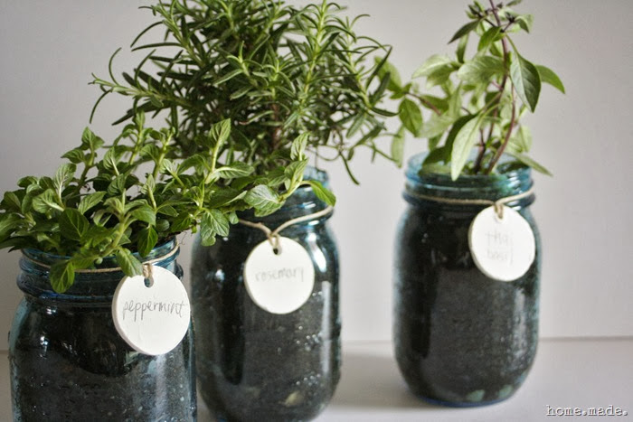 Mason Jar Herb Planters home.made.