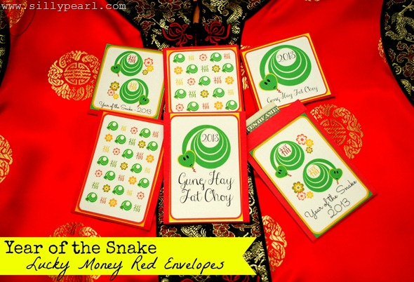 Free Printable Year of the Snake Red Envelopes - The Silly Pearl