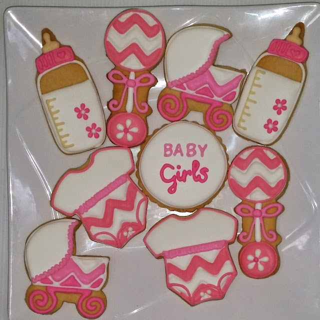 baby girl fancy cookies
