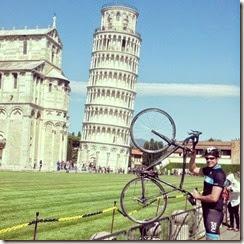 Brian, bike, Pisa