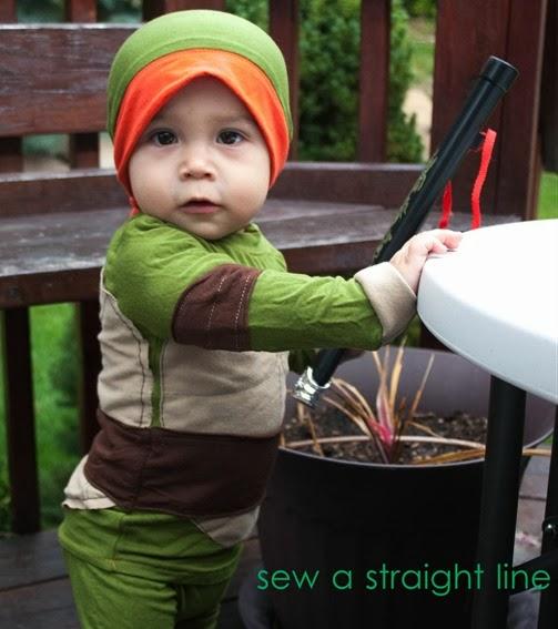 TMNT Teenage Mutant Ninja Turtles Costume sew a straight line-1-2
