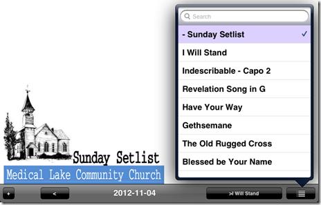 setlist 2012-11-04 unrealBook