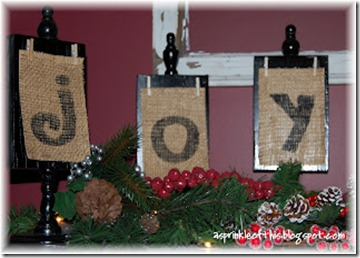 Christmas JOY {A Sprinkle of This . . . . A Dash of That}